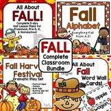 FALL Complete Classroom Bundle for Preschool, PreK, K, & Homeschool!