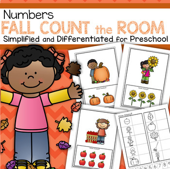 FALL Count the Room  - Simplified and Differentiated for Preschool and Pre-K