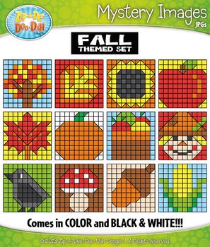 FALL Mystery Images Clipart {Zip-A-Dee-Doo-Dah Designs}