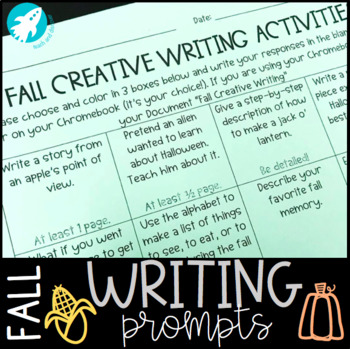 FALL Creative Writing Menu {Prompts & Activities}