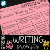 SPRING Creative Writing Menu {Prompts & Activities}