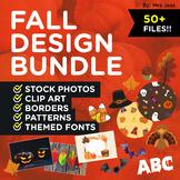 FALL THEME DESIGN BUNDLE! Stock Photos, Clip Art, Patterns