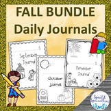 FALL Daily Journal Writing for Special Education BUNDLE