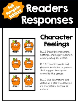 FALL EDITION Character Feelings Readers Responses