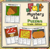 5th Grade FALL ELA Color by Code  Mystery Pictures: Fifth