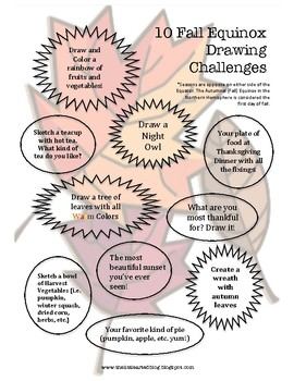 FALL EQUINOX DRAWING CHALLENGES!