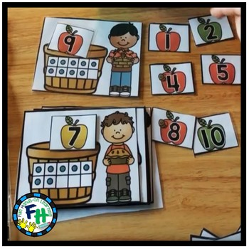 FALL Kindergarten Math & Literacy Centers