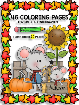 Fall Fun Coloring Pages For Pre K And Kindergarten 25 Pages Tpt