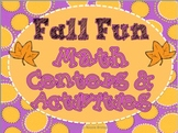 FALL FUN Math Centers & Activities (Common Core Aligned) *Upper Elementary*