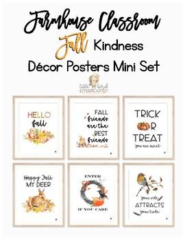 FALL Farmhouse Posters Mini Set