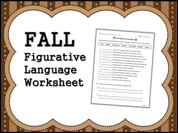 FALL Figurative Language Worksheet