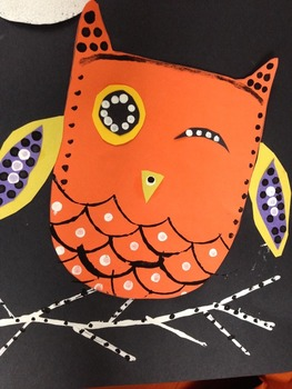 FALL / HALLOWEEN OWL ART COLLAGE + PAINTING!