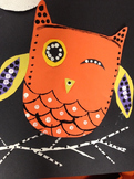 FALL / HALLOWEEN OWL ART COLLAGE + PAINTING + VIDEO INSTRUCTIONS!
