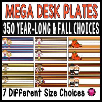 Fall Theme Name Plates Mega Bundle