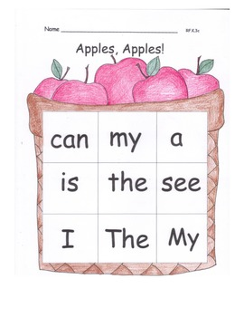 FALL High Frequency Sight Words Practice PACK 19 pages Pri
