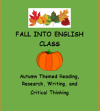Fall Themed Writing, Research and Critical Thinking Activity Bundle