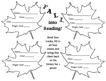 FALL INTO READING incentive