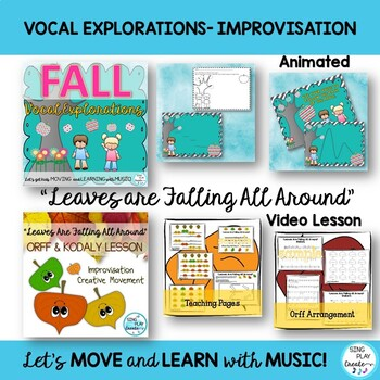 Music Class Fall Lesson Bundle: Videos, Songs, Games, Kodaly and Orff Activities