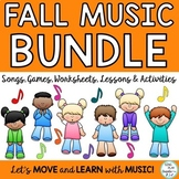 Fall Music Class Lesson Bundle: Videos, Songs, Games, Kodaly, Orff  K-6