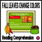 Fall Reading Comprehension with Questions for Third Grade