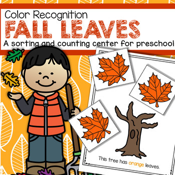 fall leaves color sorting center for preschool and toddlers by kidsparkz