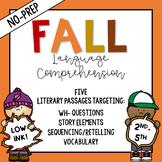 No-Prep Fall Language Comprehension Packet