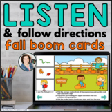 FALL Listen and Follow Directions with AUDIO     BOOM CARDS™