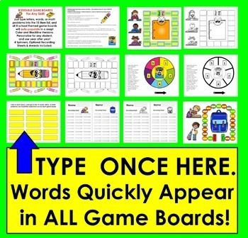 Sight Words Game Boards Set 2 (last 114 Dolch + 10 Nouns)