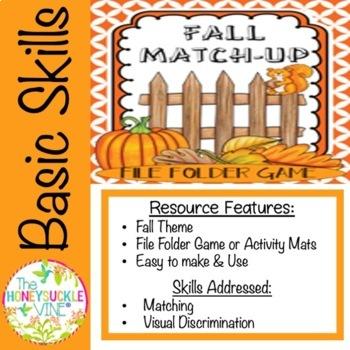 FALL MATCH-UP File Folder Game