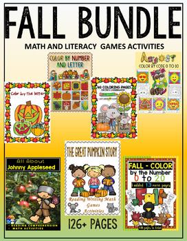 FALL - MATH AND LITERACY ACTIVITIES - 5 LESSONS IN ONE BUNDLE