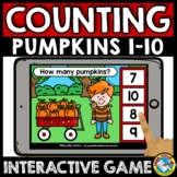 FALL MATH BOOM CARDS ACTIVITY COUNT OBJECTS TO 10 PUMPKINS