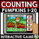 FALL MATH BOOM CARDS ACTIVITY COUNT OBJECTS TO 20 PUMPKINS