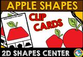 FALL MATH CENTER PREK (APPLE SHAPE CLIP CARDS) APPLES KINDERGARTEN ACTIVITY