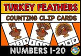 FALL ACTIVITY KINDERGARTEN THANKSGIVING PRESCHOOL COUNT TURKEY MATH CENTER GAME