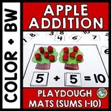 APPLE ACTIVITIES KINDERGARTEN (PLAYDOUGH MATS) ADDITION CENTER PART PART WHOLE