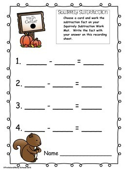 FALL MATH CENTERS - Differentiated Activities for First Grade