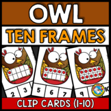 FALL MATH CENTERS KINDERGARTEN (OWL TEN FRAMES ACTIVITIES)