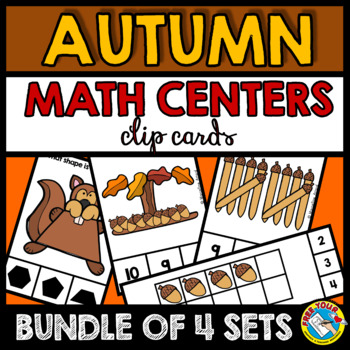 FALL MATH CENTERS KINDERGARTEN (SQUIRRELS AND ACORNS ACTIVITIES)