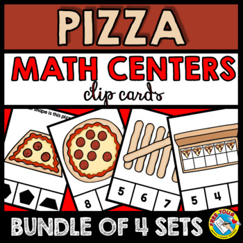 PIZZA MATH CENTERS KINDERGARTEN (COUNTING TO 10 AND SHAPE ACTIVITIES)