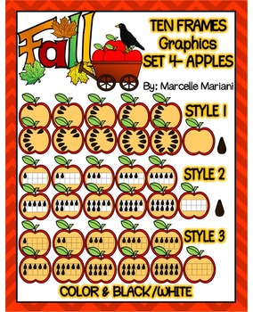 FALL MATH CLIPART GRAPHICS-FALL TEN FRAMES BUNDLE PACK- COMMERICAL USE