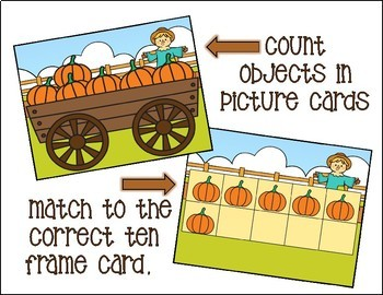 FALL MATH COUNTING CENTERS USING TEN FRAMES