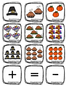 FALL MATH GAMES, 10 frames match, Number cards, number order puzzles