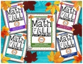 NO PREP FALL MATH PRINTABLES | 58 Sheets | 4th grade CCSS Aligned