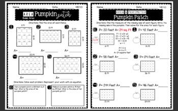 4th Grade FALL MATH NO PREP PRINTABLES (Measurement & Data)