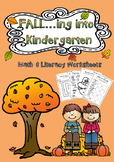 FALL Math & Literacy Worksheets (Kindergarten)