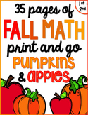 Fall/ Autumn Math for K & 1 {Number Sense, Place Value, Adding/Subtracting}