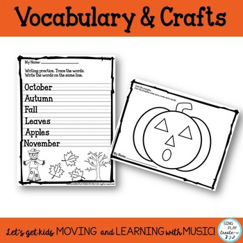 Fall Themed Literacy Activities: September, October & November Holidays