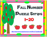 FALL NUMBER PUZZLE STRIPS 1-20
