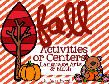 FALL No Prep Printables, Centers - Sight Words, Addition,