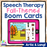 FALL Digital Speech Therapy Boom Cards for Teletherapy